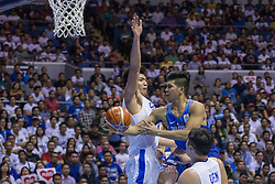 November 27, 2017 - Cubao, Quezon City, Philippines - Kiefer Ravena trying to be fancy with a scoop lay-up.Gilas Pilipinas defended their home against Chinese Taipei. Game ended at 90 - 83. (Credit Image: © Noel Jose Tonido/Pacific Press via ZUMA Wire)