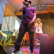 WASHINGTON, DC - August 11th, 2012 - Underground hip-hop sensation Schoolboy Q performs at the inaugural Trillectro Festival at the Half Street Fairgrounds in Washington, D.C. His main stage set drew the day's largest crowd despite a light rain towards the end of his set. (Photo by Kyle Gustafson/For The Washington Post)