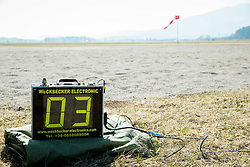 Equipment for World ParaSki Champion Matej Becan of Slovenia parachuting team during practice session, on March 10, 2015 in Airport Lesce, Slovenia. Photo by Vid Ponikvar / Sportida