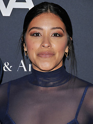 Gina Rodriguez arrives at the L.A. Dance Project's Annual Gala held at LA Dance Project in Los Angeles, CA on Saturday, October 7, 2017. (Photo By Sthanlee B. Mirador/Sipa USA)