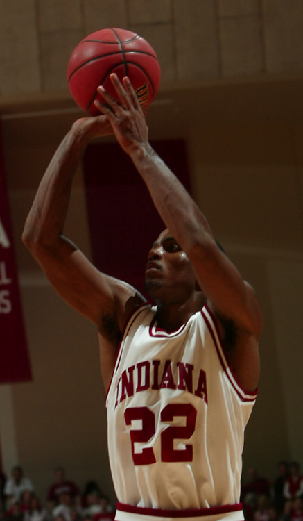 18 November 2005: Indiana's Marshall Strickland as the Indiana Hoosiers played Nicholls State at Assembly Hall in Bloomington, Ind........***LOW RES FPO ONLY, HIGH RES AVLAIBLE OFFLINE***