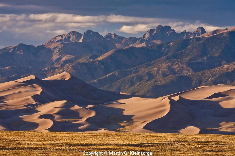 Great Dand Dunes National Park below the Sangre De Cristo Mountains, Colorado.
