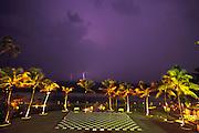 Lightning at Galle Hotel in Colombo, Sri Lanka.