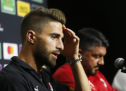July 23, 2018 - Carson, California, U.S - AC Milan player FABIO BORINI in a press conference after a training session at StubHub Center. AC Milan will play an international Champions Cup match against Manchester United on July 25 in Carson. (Credit Image: © Ringo Chiu via ZUMA Wire)