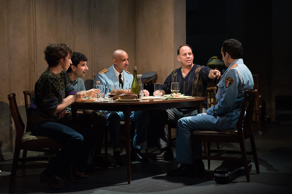Kristen Seih, John Cariani, Alok Tewari, Andrew Polk & George Abud: The Band's Visit - Behind the scenes and Production photos from the original Atlantic Theater Company Off Broadway production