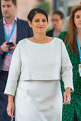© Licensed to London News Pictures. 01/10/2019. Manchester, UK. Home Secretary Priti Patel at the Conservative Party Conference today at Manchester Central in Manchester. Photo credit: Andrew McCaren/LNP
