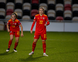 NEWPORT, WALES - Thursday, October 22, 2020: Wales' Georgia Walters during the UEFA Women's Euro 2022 England Qualifying Round Group C match between Wales Women and Faroe Islands Women at Rodney Parade. Wales won 4-0. (Pic by David Rawcliffe/Propaganda)