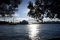 View of the Sydney harbour bridge and Sydney Opera House