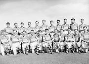 Neg No: .871/a1908-a1919...14081955AISFCSF...14.08.1955, 08.14.1955, 14th August 1955..All Ireland Senior Football Championship - Semi-Final..Kerry.2-10.Cavan.1-13...Kerry. ..G. O'Mahony, J. O'Shea, E. Roche, J. M. Palmer, Sean Murphy, J. Cronin, T. Moriarty, J. Dowling (Captain), D. O'Shea, P. Sheehy, T. Costelloe, T. Lyne, J. Culloty, M. Murphy, J. Brosnan.Sub: J. J. Sheehan for Moriarty.J. Dowling (Captain)......RESCAN.