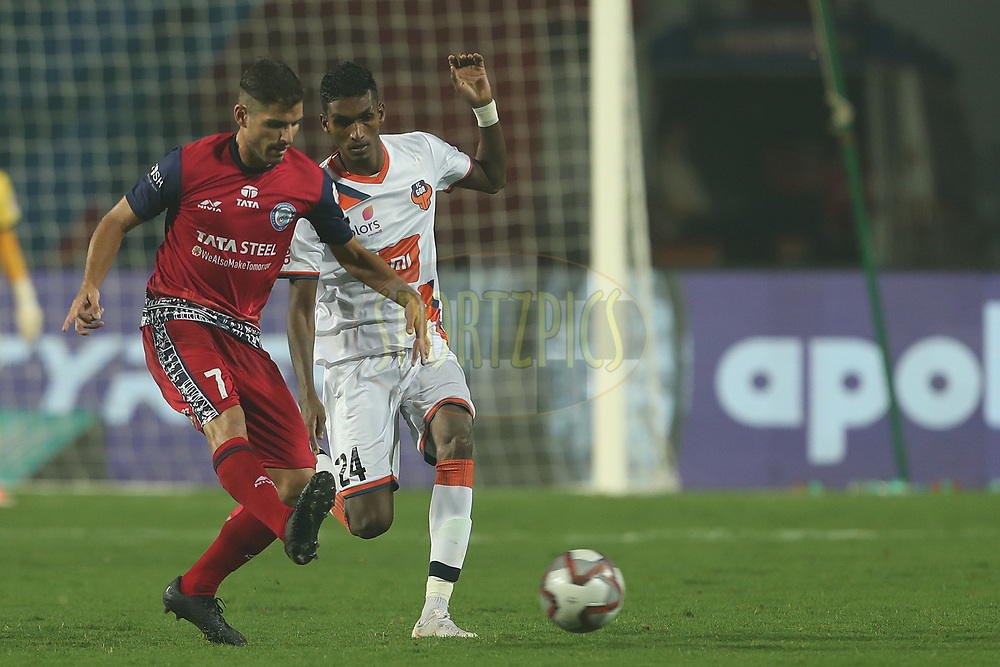 Pablo Morgado of Jamshedpur FC during match 25 of the Hero Indian Super League 2018 ( ISL ) between Jamshedpur FC and FC Goa held at JRD Tata Sports Complex, Jamshedpur, India on the 1st November  2018<br /> <br /> Photo by: Ron Gaunt /SPORTZPICS for ISL