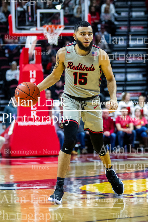 NORMAL, IL - February 08: Lijah Donnelly during a college basketball game between the ISU Redbirds and the Indiana State Sycamores on February 08 2020 at Redbird Arena in Normal, IL. (Photo by Alan Look)