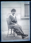 adult woman sitting France ca 1920s