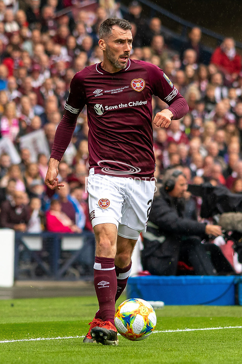 Michael Smith of Hearts during the William Hill Scottish Cup Final match between Heart of Midlothian and Celtic at Hampden Park, Glasgow, United Kingdom on 25 May 2019.