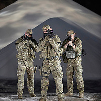 MINNEAPOLIS, MN MAY 30: Members of a SWAT team pose for photos at the Port of Minneapolis on May 30, 2015 in Minneapolis, Minnesota. (Photo by: Adam Bettcher for Desert Tech Rifles)