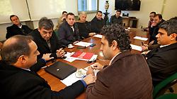 Reunião que definiu aliança na eleição proporcional entre PDT, PP e PRB. FOTO: Jefferson Bernardes/Preview.com
