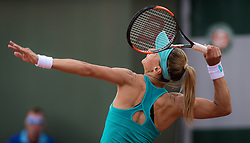 May 28, 2019 - Paris, FRANCE - Lesia Tsurenko of the Ukraine in action during her first-round match at the 2019 Roland Garros Grand Slam tennis tournament (Credit Image: © AFP7 via ZUMA Wire)