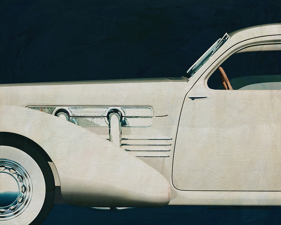 If you want to give your interior an extra stylish detail, this painting of a 1936 Cord 812 Sedan is perfect. –<br />
