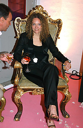 STEPHANIE THEOBALD at a dinner hosted by Harpers Bazaar to celebrate the launch of the fragrance Flowerbomb by Viktor & Rolf held at Elms lester, Flitcroft Street, London WC2 on 31st May 2006.<br /><br />NON EXCLUSIVE - WORLD RIGHTS