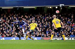 Willian of Chelsea shoots at goal - Mandatory byline: Robbie Stephenson/JMP - 10/01/2016 - FOOTBALL - Stamford Bridge - London, England - Chelsea v Scunthrope United - FA Cup Third Round