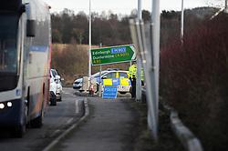 Police RTC on the A92<br /> <br /> Police close the access slip at Cowdenbeath<br /> <br /> (c) David Wardle | Edinburgh Elite media