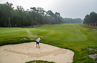 HILVERSUM -  green hole 9 . Hilversumsche Golf Club, COPYRIGHT  KOEN SUYK