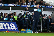 Paul Clement, the Swansea city manager gives his instructions from the touchline.  Premier league match, Swansea city v Southampton at the Liberty Stadium in Swansea, South Wales on Tuesday 31st January 2017.<br /> pic by  Andrew Orchard, Andrew Orchard sports photography.