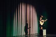 Lyshia Mangulabnan performs during the Milpitas High School Talent Show at Milpitas High School in Milpitas, California, on February 5, 2016. (Stan Olszewski/SOSKIphoto)