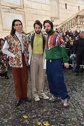 Rome, Piazza Del Campidoglio Event Gucci Parade at the Capitoline Museums, In the picture: Fabio and Damiano D'Innocenzo and Andrea Carpenzano