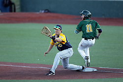 08 July 2017: Justin Fletcher John Montgomery during a Frontier League Baseball game between the Traverse City Beach Bums and the Normal CornBelters at Corn Crib Stadium on the campus of Heartland Community College in Normal Illinois
