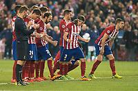 Atletico de Madrid's during penalty shootout during UEFA Champions League match. March 15,2016. (ALTERPHOTOS/Borja B.Hojas)