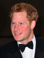 Prince Harry, Patron of the Walking With The Wounded South Pole Allied Challenge, attends the charity's Crystal Ball at the Grosvenor House Hotel, central London.<br /> The event hosted by Ben Fogle, with music Ellie Goulding and The Stereophonics. Also present were Olympian Matthew Pinsent CBE and Team Glenfiddich. The team of wounded service personnel will accompany the Prince on an expedition to the South Pole later this year, London,<br /> Thursday, 30th May 2013<br /> Picture by Nils Jorgensen / i-Images