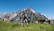 Kandersteg is a great base for hiking in Switzerland. For example: an epic hike from Selden in Bern canton traverses Lötsch glacier and Lötschen Pass (German: Lötschenpass, Swiss German: Lötschepass) to neighboring Lötschental in Valais canton; hiking poles recommended. The walk starts with a reserved Postbus ride from Kandersteg to Selden (in Gasterntal / Gasteretal / Gasterental), climbs 1350 meters, descends 925 m, and ends 13 km later at Lauchernalp lift station, which descends to Wiler in Lötschental, to reach Goppenstein via Postbus, back to Kandersteg via train. You can also reverse the route or stay overnight in dorms at Lötschepass hut.