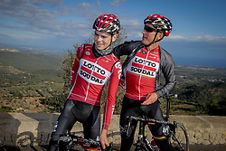 December 15, 2017 - Manacor, Espagne - MANACOR, SPAIN - DECEMBER 15 : VANHOUCKE Harm (BEL) Rider of Team Lotto - Soudal and BAK Lars Ytting (DEN) Rider of Team Lotto - Soudal pictured during the training camp of the Lotto Soudal cycling team on December 15, 2017 in Manacor, Spain, 15/12/17 (Credit Image: © Panoramic via ZUMA Press)