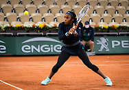 Cori Gauff of the United States in action against Johanna Konta of Great Britain during the first round at the Roland Garros 2020, Grand Slam tennis tournament, on September 27, 2020 at Roland Garros stadium in Paris, France - Photo Rob Prange / Spain ProSportsImages / DPPI / ProSportsImages / DPPI