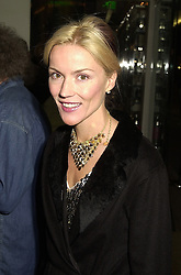 MRS DAPHNE NIARCHOS daughter of Lord Moyne, at a party in London on 5th October 2000.OHR 49