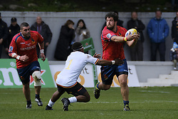 March 11, 2018 - Madrid, Madrid, Spain - Spanish National rugby team's Ignacio Contardi in action against Germany during their Men's 2108 Rugby Europe International Championships match Spain vs. Germany at Complutense University's Central pitch in Madrid, Spain, 11 March 2018. (Credit Image: © Oscar Gonzalez/NurPhoto via ZUMA Press)