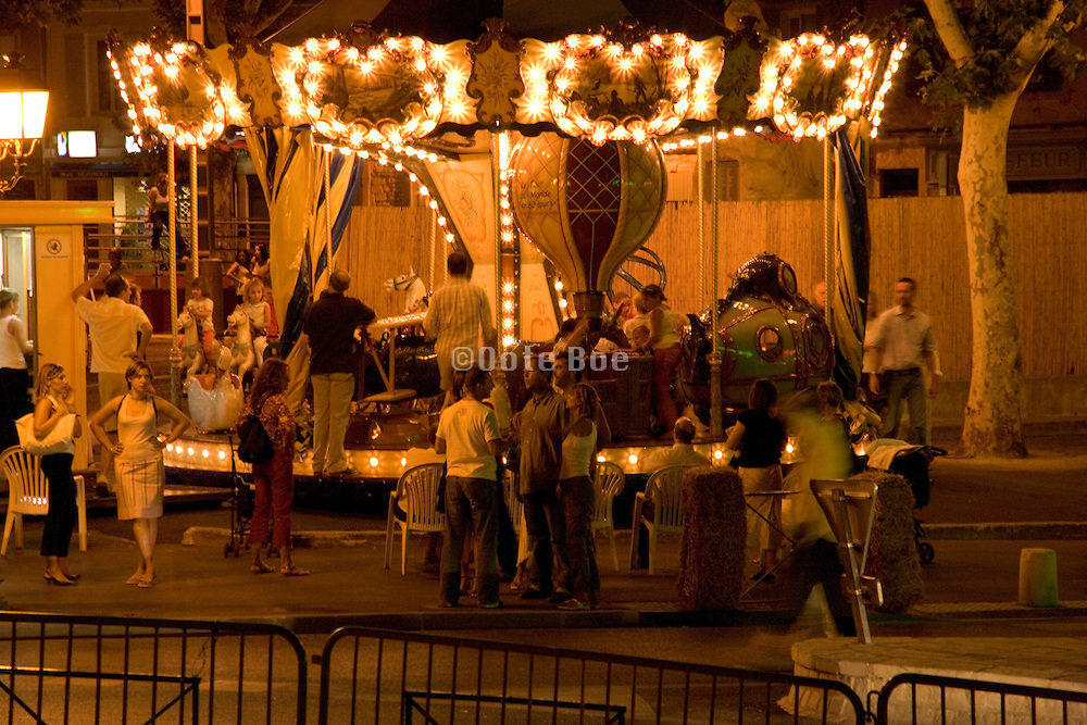 merry go round after sunset
