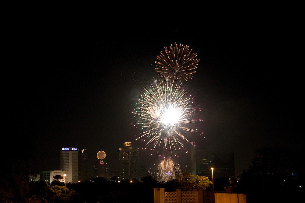 Dubai, United Arab Emirates (UAE). January 29th 2009..Fireworks