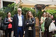 HANS ULRICH OBRIST; CHRISTINE MARCEL; BLOOMBERG LUNCH, METROPOLE HOTEL, . Venice Biennale, 10 May 2017