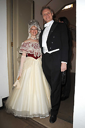 MR & MRS CHRISTOPHER ARKELL at the 13th annual Russian Summer Ball held at the Banqueting House, Whitehall, London on 14th June 2008.<br /><br />NON EXCLUSIVE - WORLD RIGHTS