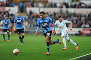 Dele Alli of Tottenham Hotspur in action. Barclays premier league match, Swansea city v Tottenham Hotspur at the Liberty Stadium in Swansea, South Wales on Sunday 4th October 2015.<br /> pic by  Andrew Orchard, Andrew Orchard sports photography.