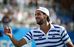 Spain's Feliciano Lopez celebrates winning during day four of the 2017 AEGON Championships at The Queen's Club, London.