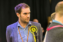 The counting of votes in the European Parliamentary Election for the City of Edinburgh counting area takes place at EICC, Morrison Street, Edinburgh. <br /> <br /> Pictured: Adam McVey, City of Edinburgh Council leader at the vote