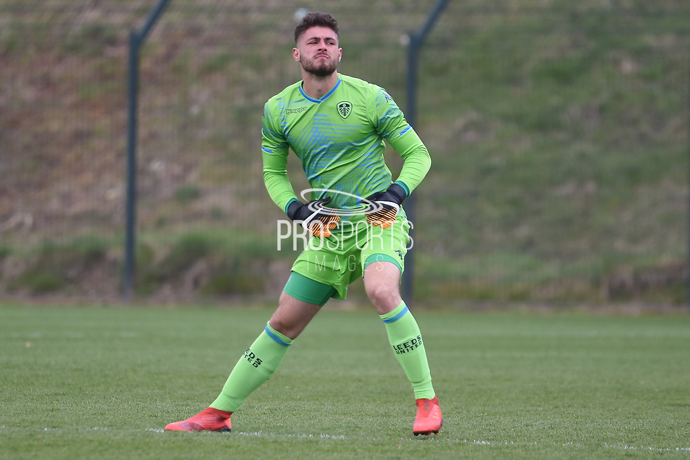 Leeds United goalkeeper Joshua Rae during the U18 Professional Development League match between Coventry City and Leeds United at Alan Higgins Centre, Coventry, United Kingdom on 13 April 2019.
