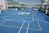 Royal Caribbean International's  Independence of the Seas, the world's largest cruise ship.....Sport court *** Local Caption *** Sports court.