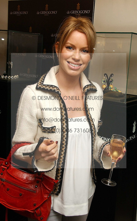 CAROLINE HABIB at a lunch hosted by Fawaz Gruosi to celebrate the launch of De Grisogono's latest watch 'Be Eight' held at Nobu, 19 Old Park Lane, London W1 on 30th November 2006.<br /><br />NON EXCLUSIVE - WORLD RIGHTS