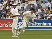 2004 1st NPower Test  - England v New Zealand. <br /> 20/05/2004<br /> Andrew Strauss run's in to throw the ball. [Credit Peter Spurrier Intersport Images}