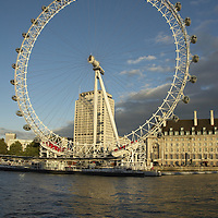 View of the British Airways London Eye from the river Thames<br />