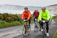 Wight Riviera Sportive. 154km of cycle racing around the Isle of Wight roads, beginning with a mass start lead out from Yarmouth harbour front, leading into the 25km closed road Avant loop past the iconic Needles and through pretty Freshwater Bay before the coast road climb of Compton Down cranks up to separate the men from the boys.<br /> <br /> There will be no sales or downloads from this website, as we are supporting the Earl Mountbatten Hospice through photography sales from the event. Please go to  http://www.cyclewight.co.uk/1-photos-for-local-hospice-at-wight-riviera/ for downloads and details of how to donate to the hospice via justgiving.