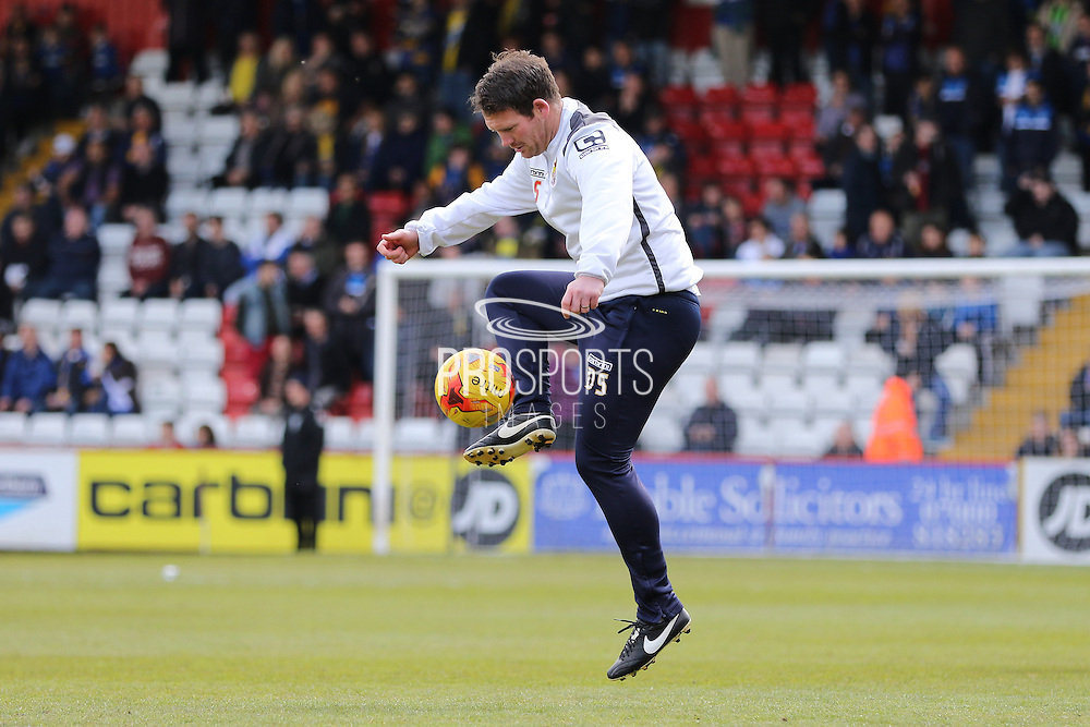 Stevenage Caretaker Manager Darren Sarll prior the Sky Bet League 2 match between Stevenage and AFC Wimbledon at the Lamex Stadium, Stevenage, England on 30 April 2016. Photo by Stuart Butcher.